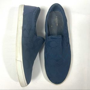 COACH Alegra Slip On Sneaker Blue 9.5